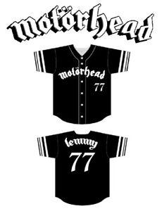 MOTORHEAD  Baseball Jersey Size 4X XXXXL sz 64 lemmy kilmister shirt