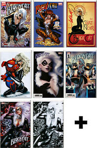 BLACK-CAT-COMIC-BOOKS-MARVEL-COMICS-VARIANT-EXCLUSIVE-SIGNED-1-2-3-4