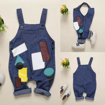 Denim Romper Trousers Toddler Kids Baby Boys Girl Summer Clothes Jumpsuit Shorts
