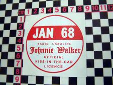 1968 Radio Caroline Pegatina De Cristal-Morris Austin Rootes Ford Hillman Bmc Mini