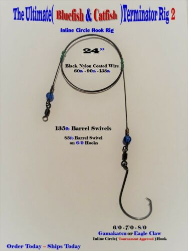 Amuse custom surf fishing rigs leaders collection on ebay for Blue fish rig
