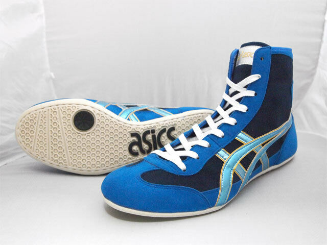 ASICS JAPAN Wrestling Boxing Shoes TWR900 Blue