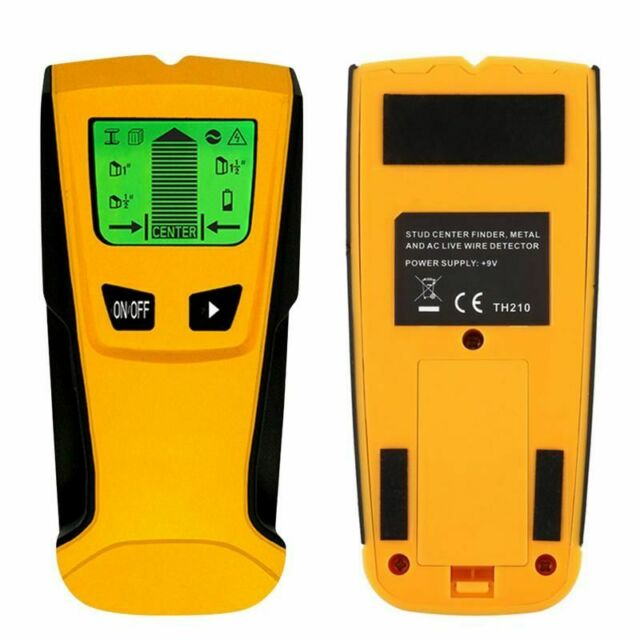 3 en 1 Detector de alambre vivo Stud Wood Wall Center Buscador de esc/áner Metal AC Tool Kit Stud Finder