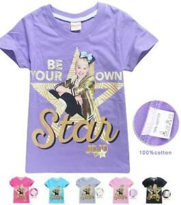 JoJo-Siwa-Kids-T-shirt-034-Be-Your-Own-Star-034-Girls-Clothes-Top-Size-4-12