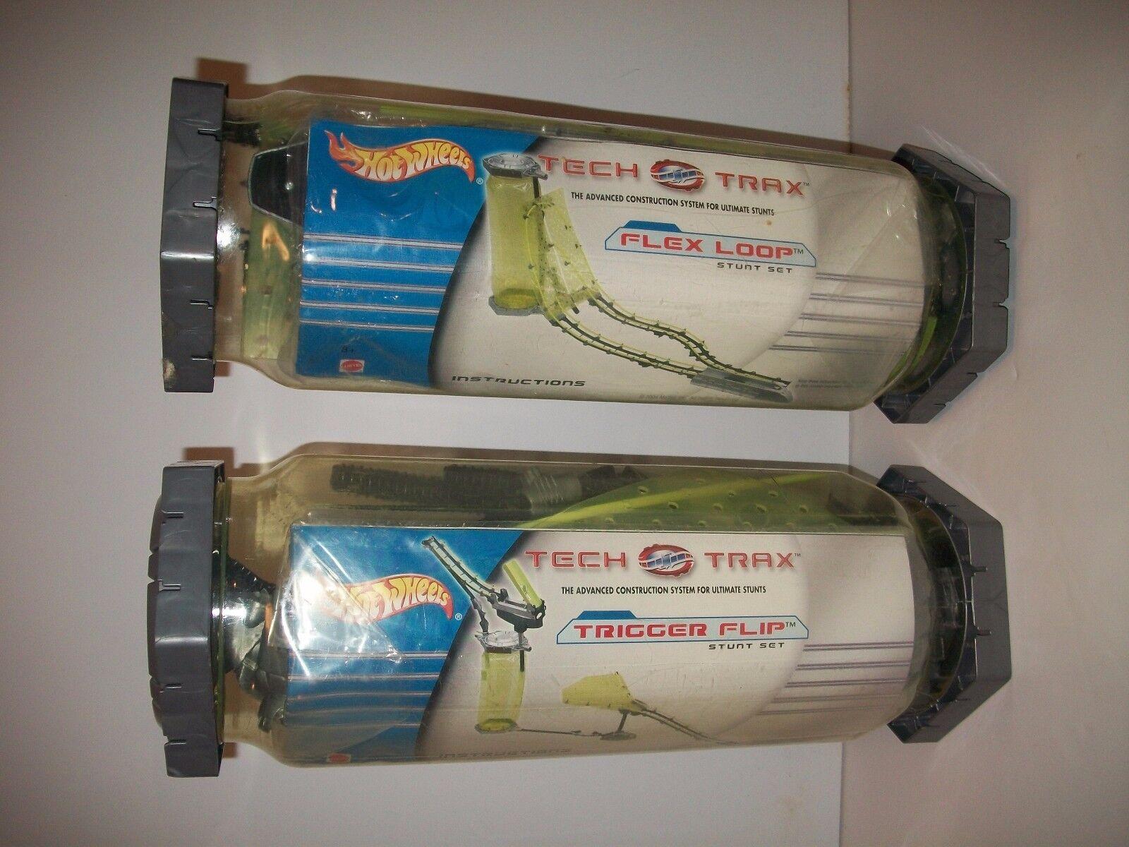 NEW & RARE  HOT WHEELS TECH TRAX SYSTEM STUNT SETS -  x 2   2004 Mattel