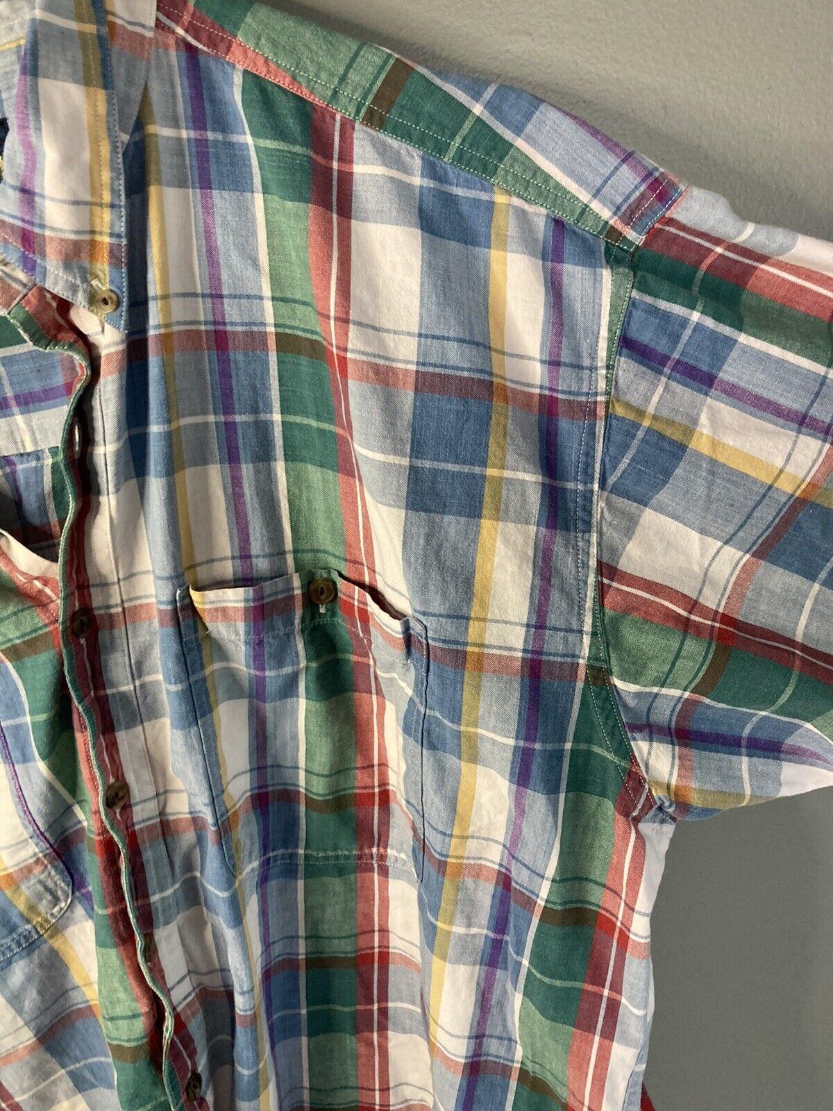 Vtg 80s 90s Chaps Ralph Lauren Mens XL Short Slee… - image 5