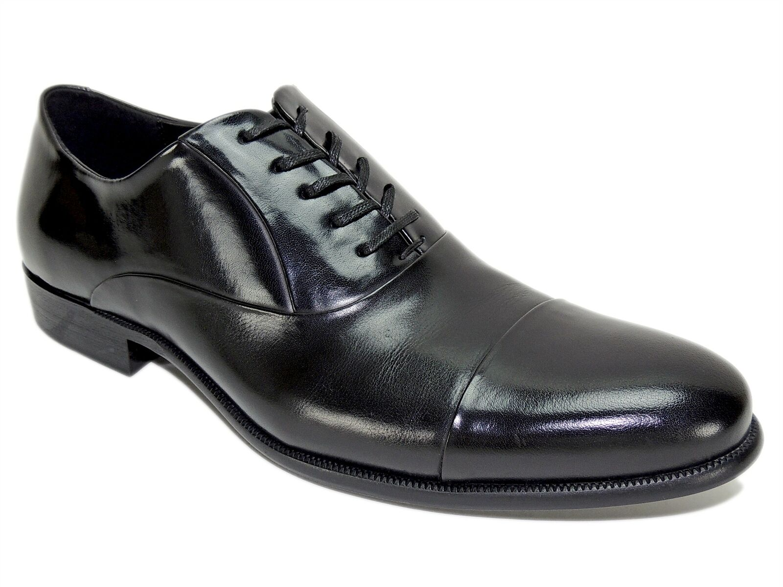Kenneth Cole New York Men's Chief Council Cap Toe Oxfords Black Size 7.5 M