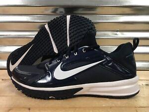 060408b69509 Nike Air Huarache Turf Baseball Trainer Shoes Navy Blue White SZ ...