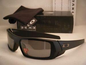 099a2ea804 Oakley GasCan Matte Black w Black Iridium Polar Lens NEW Sunglasses ...