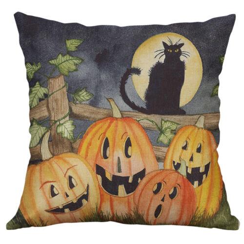 New Printing Hallowmas Animal Cotton Linen Pillow Case Cushion Home Décor Cover
