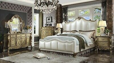 Acme Furniture Dresden Ll Queen 6 Piece Bedroom Set Ebay