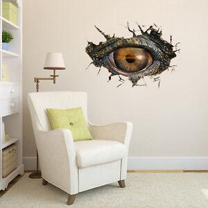 3D-DIY-Family-Art-Home-Decor-Vinyl-Dinosaur-039-s-Eye-Wall-Sticker-Mural-Decal-Art