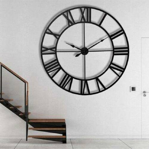 40 60CM EXTRA LARGE ROMAN NUMERALS SKELETON WALL CLOCK BIG GIANT OPEN FACE ROUND