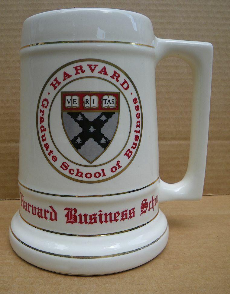 Sturdy Harvard University Graduate School of Business ceramic stein mug 3