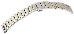 Edelstahl-Gliederband-Uhrenband-Silber-Gold-18-mm-Faltschliesse-X8100082180