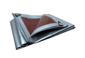 Tarpaulin Heavy Duty Waterproof Strong Cover Ground Sheet Tarp 210GSM 2x3 BROWN