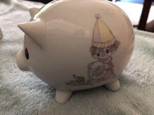 Precious-Moments-Piggy-Bank-Enesco-Samuel-J-Butcher-1984-With-Box