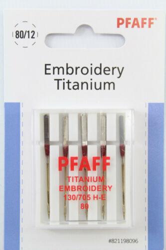821198096 Art-Nr. Original PFAFF Embroidery Titanium 130//705 H-E Stärke 80