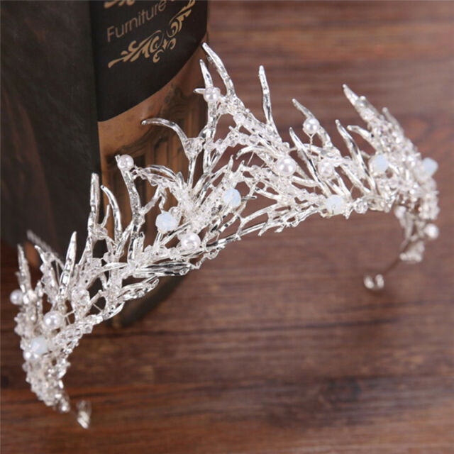 Wedding Rhinestone Tiara Hair Band BridalPrincess Crown Headband Accessory BF