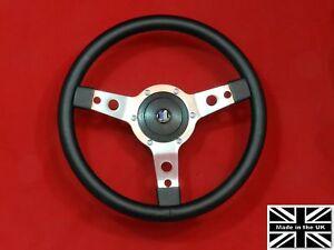 14-034-Classic-Vinyl-Steering-Wheel-amp-Hub-Fits-Triumph-Tr4-5-6