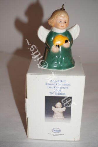 2004 Goebel Angel bell Ornament with car ~ Green dress