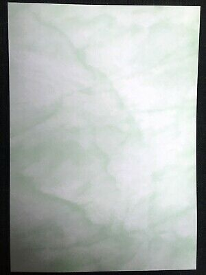 PAPER ARTS CRAFT SCHOOL 10 x GREEN MARBLE PARCHMENT PAPER A4 90gsm CERTIFICATE