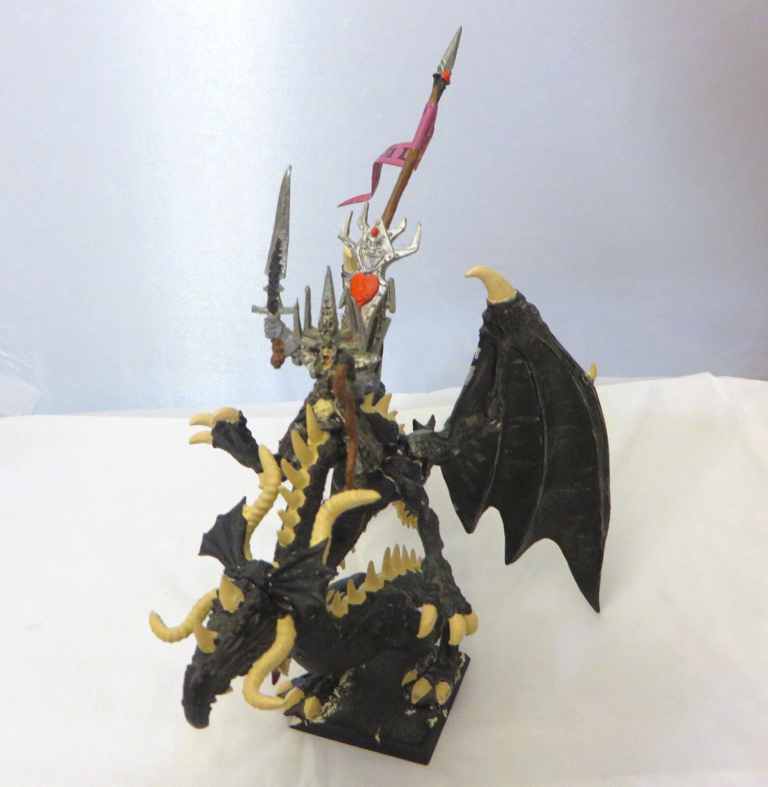 Warhammer Dark Elf Rakarth Beastlord on Dragon all metal long oop basic painted