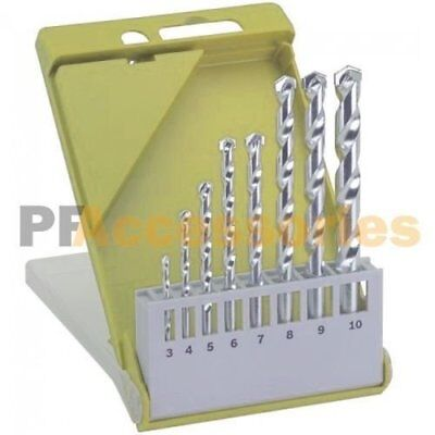 M-2 Carbide Tip Brick 8pc Masonry Drill Bit Set 1//8 to 3//8 Concrete Tile