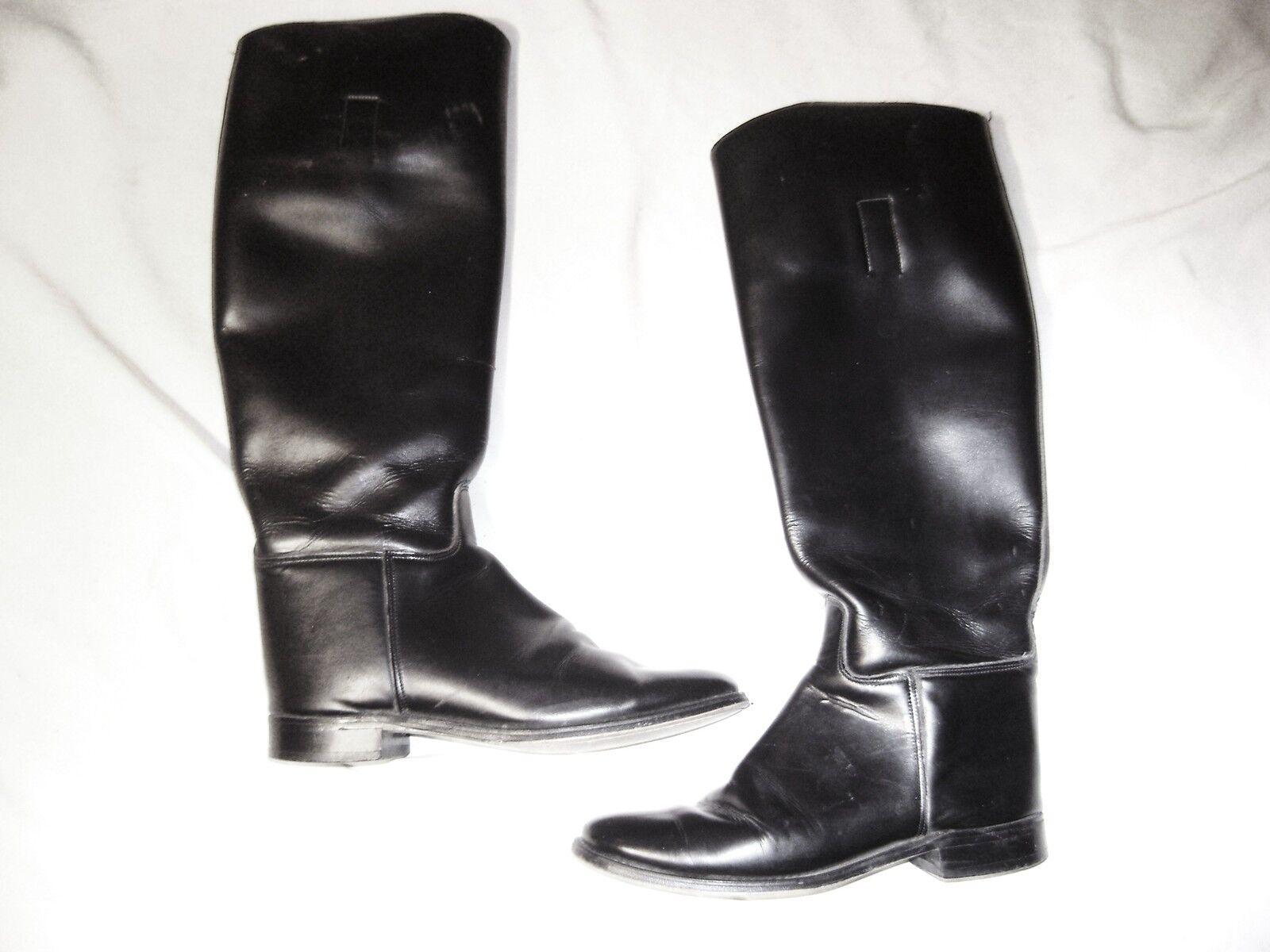 Marlborough schwarz Leder equestrian riding boot   Größe 7