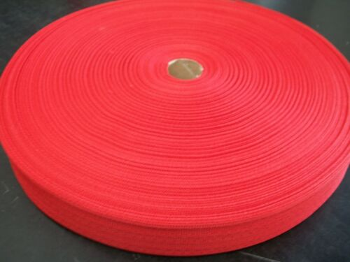"BINDING TAPE POLYESTER 36mmmm 112"" Red 100 mtrs"