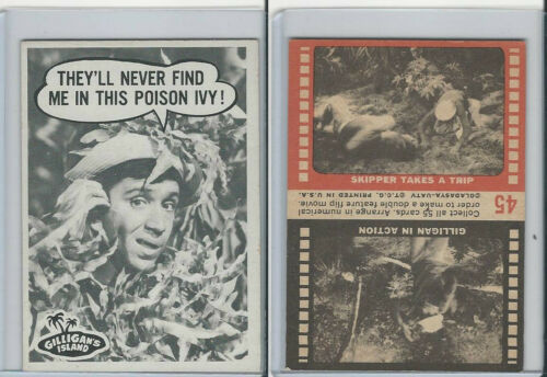1965 Topps, Gilligan's Island, #45 They'll Never Find Me In This Poison Ivy!
