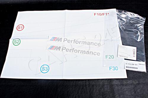 Genuine BMW F10 F11 F20 F32 F36 PERFORMANCE Sticker Stick On Set OEM 51142296551