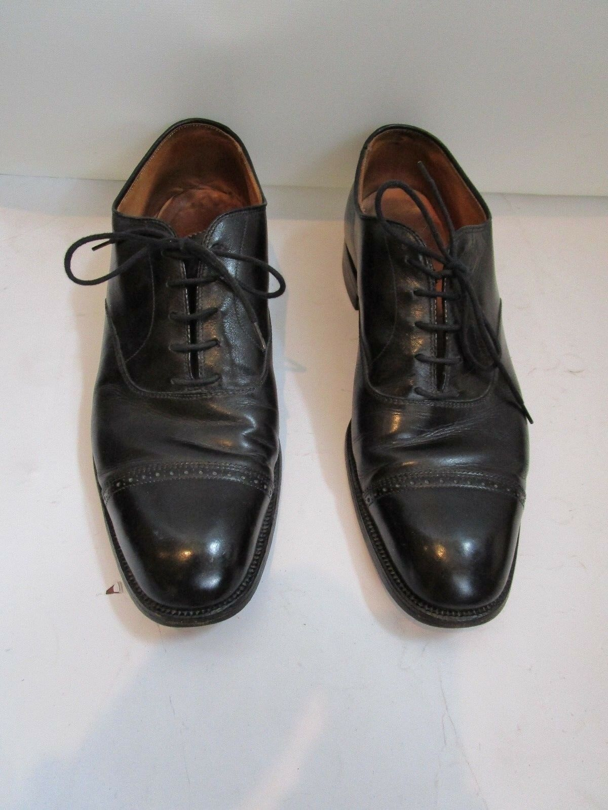 Brooks Brojohers negro Wing Tip zapatos D