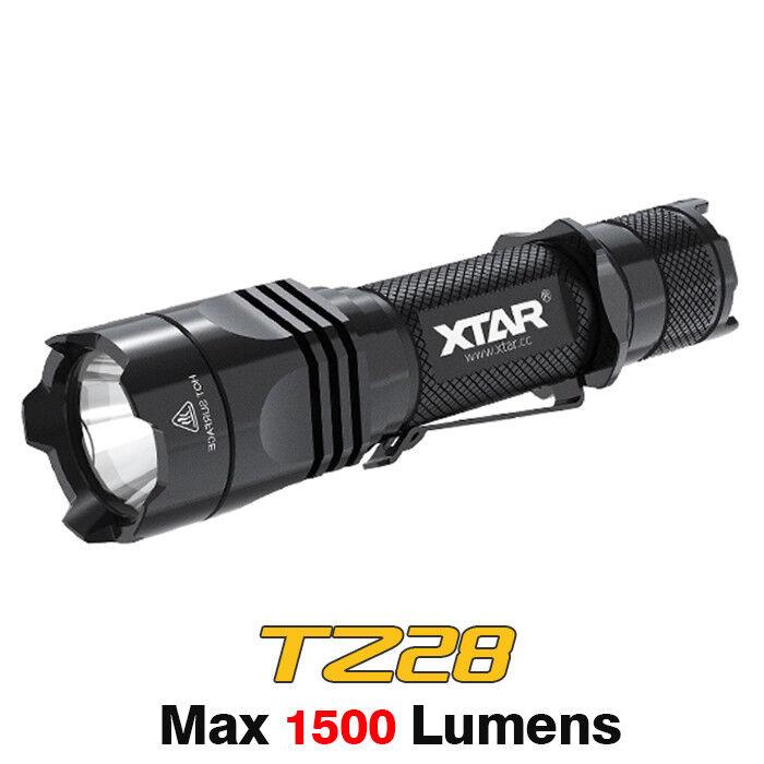 XTAR TZ28 1500lm Cree XHP35 HI D4 LED Dual Switch Tactical Flashlight Torch