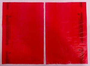 Qty-100-Red-High-Density-Bags-8-5-034-x-11-034-Plastic-Merchandise-Shopping-Bag