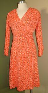 Pendleton-Dress-Small-Women-039-s-Orange-Sand-Dollar-print-Stretch-A10