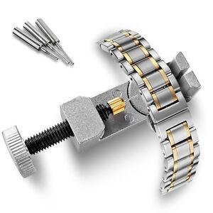 Metal-Adjustable-Watch-Band-Strap-Bracelet-Link-Pin-Remover-Repair-Tool-Kit-N09