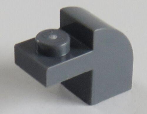 dunkel blaugrau # 6091 4 Stück LEGO Stein / Brick 1 x 2 x 1 1/3 abgerundet