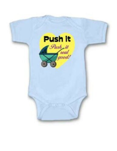 Details about  /Push It Real Good Baby Bodysuit Creeper New Adorable Gift