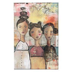 """Kelly Rae Roberts-wall Art Design """"journey Of Heart"""" Pression Sur Toile-afficher Le Titre D'origine"""
