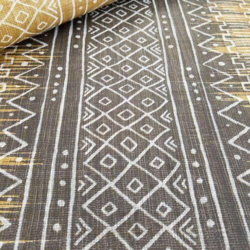Global Style African Mudcloth Cream Gray Rust Stripe Aztec Navajo Boho Wallpaper