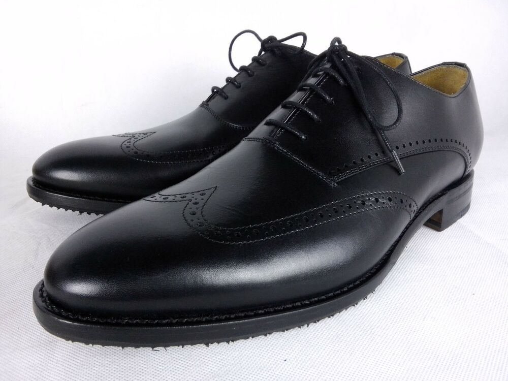 Berwick 1707 Boxcalf Noir Richelieu à Hiver Grip Oxford Shoe Uk 9.5 Eu 43.5 Loake