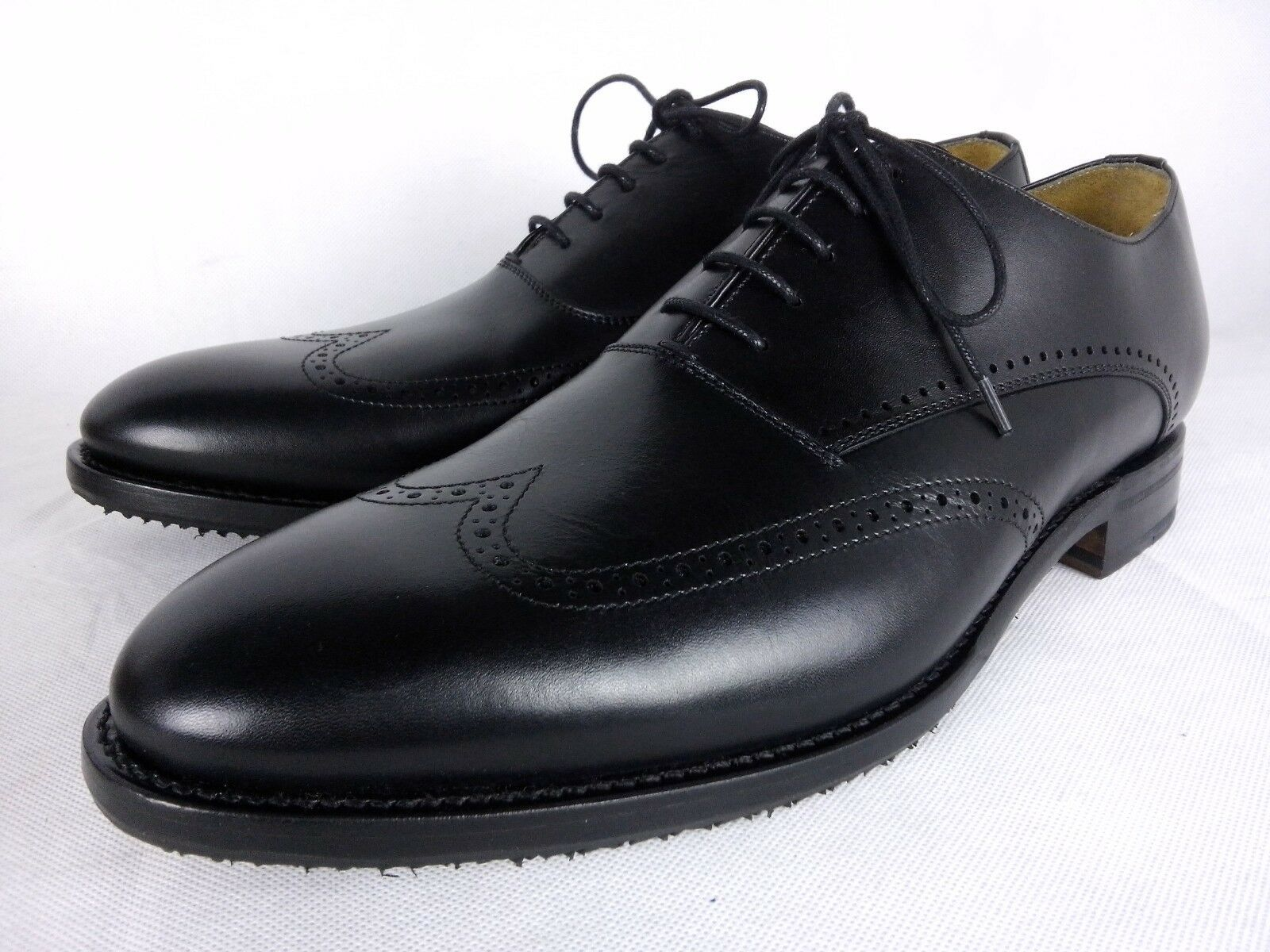 Berwick 1707 nero Boxcalf Brogue Winter Grip Oxford  scarpe UK 9.5 EU 43.5 loake  prodotti creativi