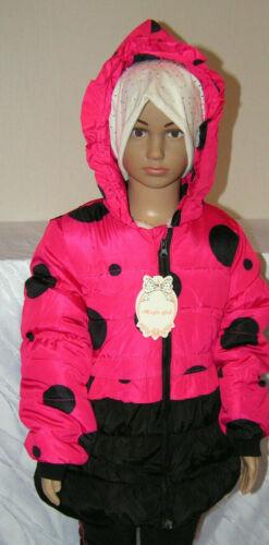 Kinder Mädchen Stepp Jacke Fleece Mantel Winter Schwarz//Rosa//Pink