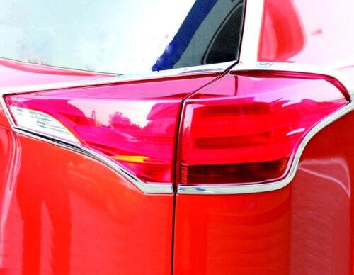 Chrome Rear Light Tail Lamp Cover Trim Frames 4pcs For Toyota Rav4 2013-2015