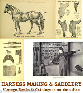 Saddlery-Horse-Harness-Making-Repair-19-Vintage-Books-Catalogues-on-Data-Disc