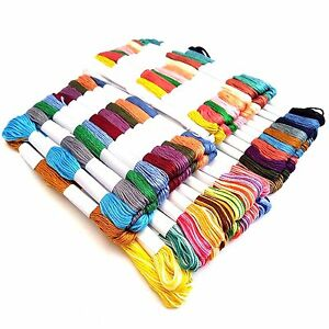 20-x-Skeins-Coloured-Embroidery-Thread-Cotton-Cross-Stitch-Braiding-Craft-Sewing