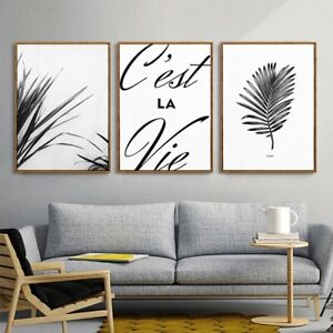 Nordic-Wall-Art-Decor-Painting-Palm-3-Piece-Canvas-Prints-UNFRAMED