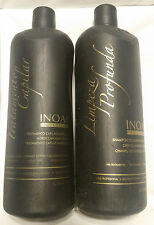 Inoar Brazilian  Keratin moroccan Blowout treatment & shampoo Kit 33.8oz/ liter