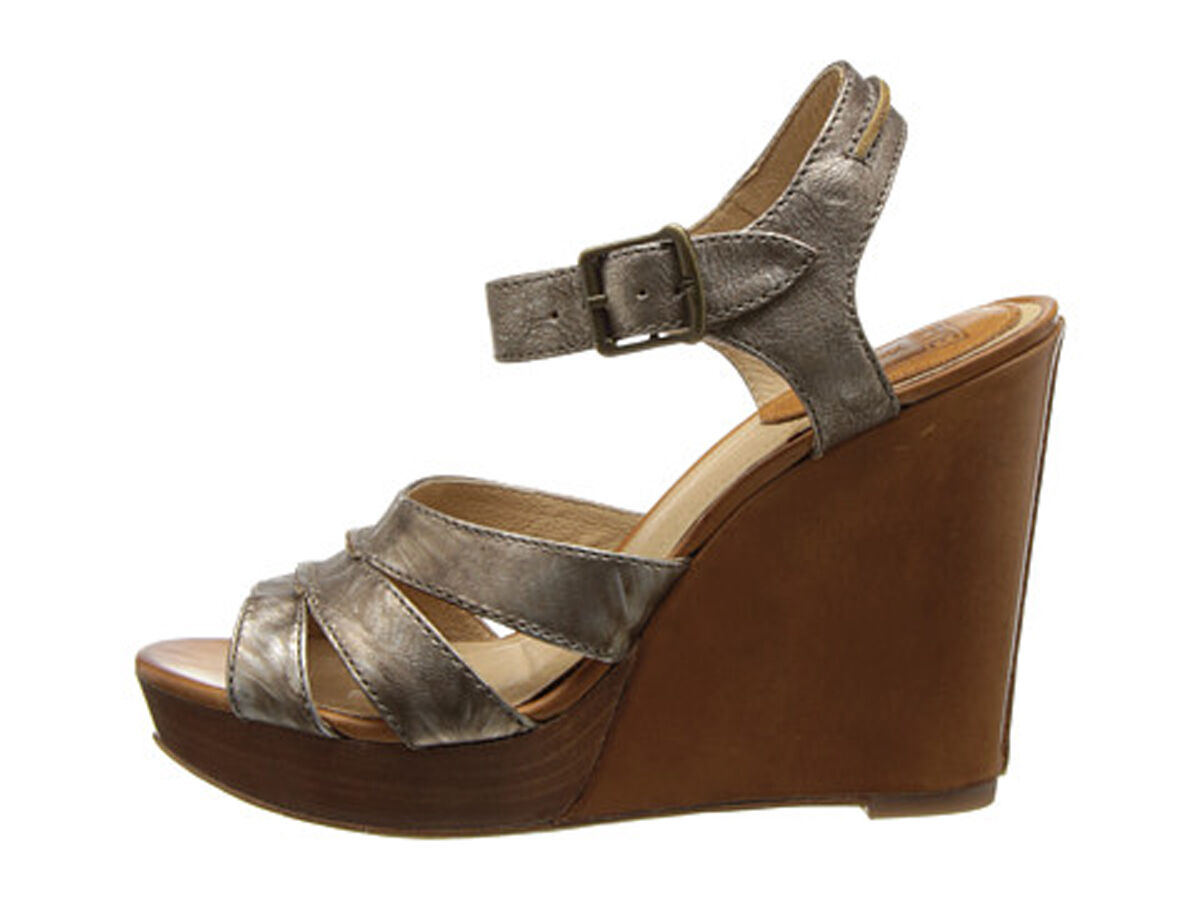 New Frye Alexa wedge leather bronze  womens's shoes size 8.5